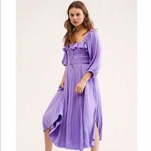 Free People Shiny Oasis Midi Dress